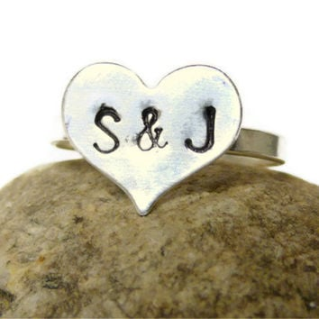 Personalized couple ring true love ring Silver by WatchMeWorld