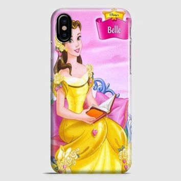 Princess Belle Sit On Chair iPhone X Case