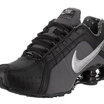 NIKE WOMEN'S SHOX JUNIOR BLACK/METALLIC SILVER RUNNING SHOE 8 WOMEN US