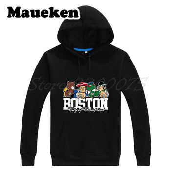 Men Hoodies Boston City For New England Bruins Red Sox Patriots Sweatshirts Hooded Thick Autumn Winter new england patriots