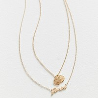 Zodiac Layering Charm Necklace Set | Urban Outfitters