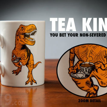 Tea-Rex Mug: Ceramic Dinosaur Coffee Mug