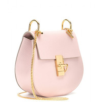 Pink Chloe Drew Leather Shoulder Bag