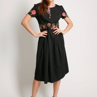 Moments Pass Floral Applique Dress