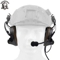 Z-tactical Z Tactical Softair Aviation Headset Headphone Comtac II Headset For FAST Helmet And Peltor Helmet Rail Adapter Set