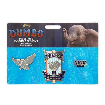 Disney Dumbo Live Action Film Pin Set Limited Release New with Card