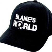 Workaholics Blake Blane's World Fitted Black Baseball Cap Hat - Workaholics - | TV Store Online