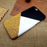 Three color mosaic fashion mobile phone case for iphone 7 7 Plus 5 5s SE 6 6s 6 plus 6s plus + Nice gift box 072601