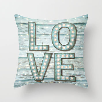 Love is the Light of Your Soul (LOVE lights II) Throw Pillow by soaring anchor designs ⚓ | Society6