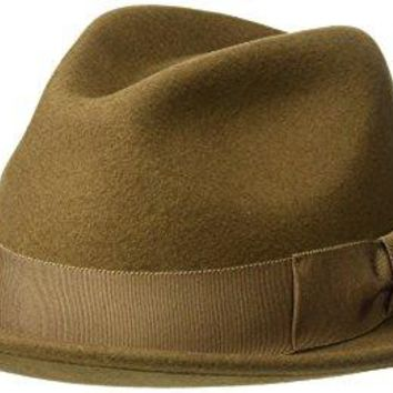 Country Gentleman Men's Frederick Wide Brim Fedora Hat, Chestnut, XL