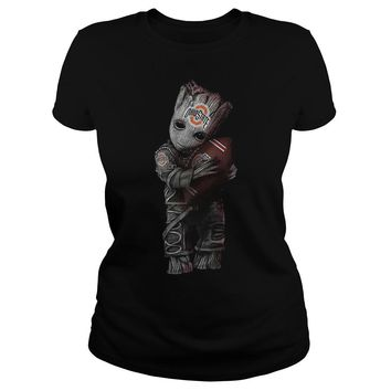 Groot hug Ohio state football club shirt Ladies Tee