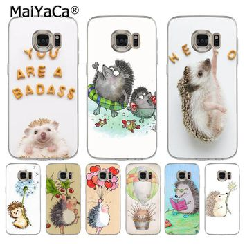 MaiYaCa Cute Hedgehog Coque Shell Phone Case  for Samsung S5 S6 S7 Edge S8 Plus S6 Edge Plus S9 S9Plus