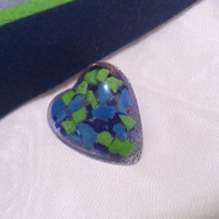 Handmade Seahawks Resin Brooch / Pin.  12th Man Brooch.  Seahawks Gifts for Her.  I <3 Seahawks Pin.