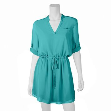 IZ Byer California Juniors' Shirtdress, Size: