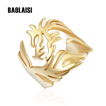 BAOLAISI Animal Dragon Ring Brand New Stainless Steel Rings Hyperbole For Women Jewelry Trendy Female Engagement  Party Gift