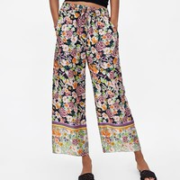 COMBINATION PRINTED PANTS
