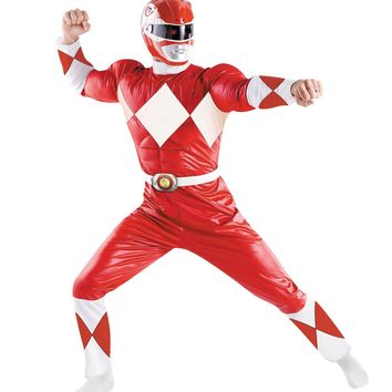 Power Ranger Red Adult Costumes Halloween