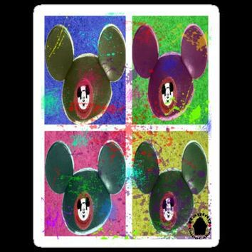Mickey Mouse's Ear Hat Stickers by RagingCuppCakes | RedBubble