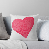 'One Love' Throw Pillow by Titus Ruiz