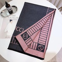 GUCCI Winter Popular Women Men Simple Easy To Match Warmer Cashmere Cape Scarf Scarves Shawl Accessories