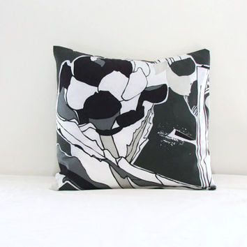 16 inch cushion cover, grey purple and white Janette Ikea fabric, decorative pillow cover