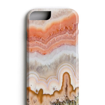 Peachy Coral Agate iPhone 6 Case