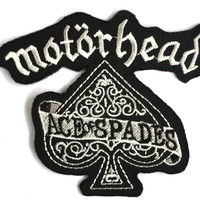 "MOTORHEAD Ace Iron On Sew On Embroidered Patch 3.9""/9cm"