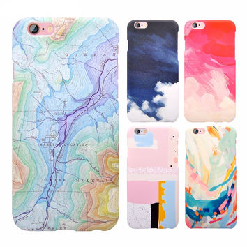 Surface Map Marble Case Slim Matte Case