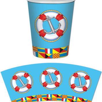 Nautical Beverage Cups Case Pack 12