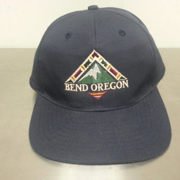 Vintage 90's 80's Bend Oregon Snapback Tourist Hat Hipster Golf Style Dad Hat Ski Resort Mountain