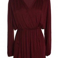LOVE Ox Blood Long Sleeve Wrap - Love