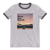 Never Ever Boards Ringer T-Shirt