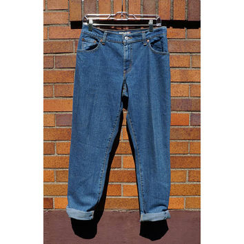 550 Levis Red Tab, 80s Mom Jeans, Pegged leg, Blue, Boot Cut, Size 8.5, Classic Denim