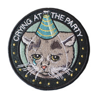 Crying at the Party iron-on patch