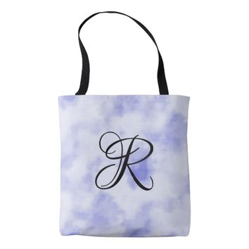 Blue and White Cloud Pattern Tote Bag