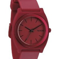 Nixon The Time Teller Red Dial Plastic Silicone Quartz Male Watch A119-1298