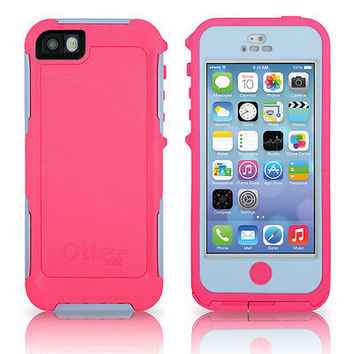 OtterBox iPhone 5 Preserver Case Primrose Pink / Pistachio Green Cover OEM New
