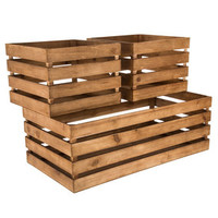 Wood Crate Storage Box Set | Hobby Lobby | 1289578