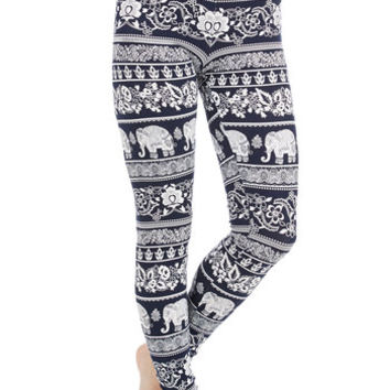 ModCloth 90s Long High Waist Wild About These Leggings