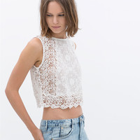 CROP LACE TOP