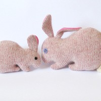 Upcycled Bunny Mom - Pink - Soft And Cuddling Plushies | Luulla