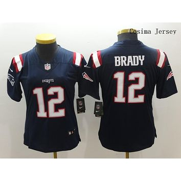 Danny Online Nike NFL Jersey Women's Vapor Untouchable Color Rush New England Patriots #12 Tom Brady Football Jersey Navy