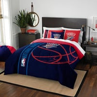 Oklahoma City Thunder NBA Full Comforter Set (Soft & Cozy) (76 x 86)