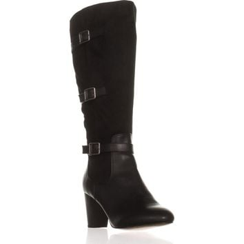 Bella Vita Talina II Tall Harness Boots, Black/Super Suede, 10 US