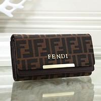 FENDI Women Fashion Leather Purse Wallet