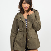 Hooded Cargo Jacket - Large