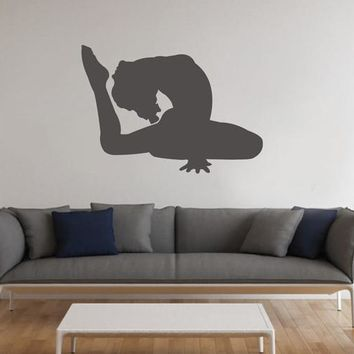 ik2288 Wall Decal Sticker Beautiful girl gymnast pose living room bedroom gym