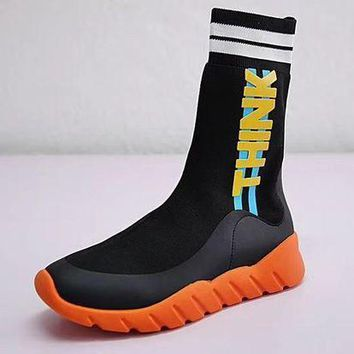 Fendi Sock Runner Sneakers High Knit Trend Running Shoes