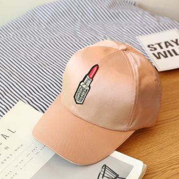 Womens Lipstick Printed Baseball Golf Cap Hats