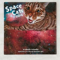 Space Cats 2016 Wall Calendar